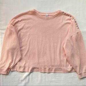 Under armour pink longsleeve cropped top